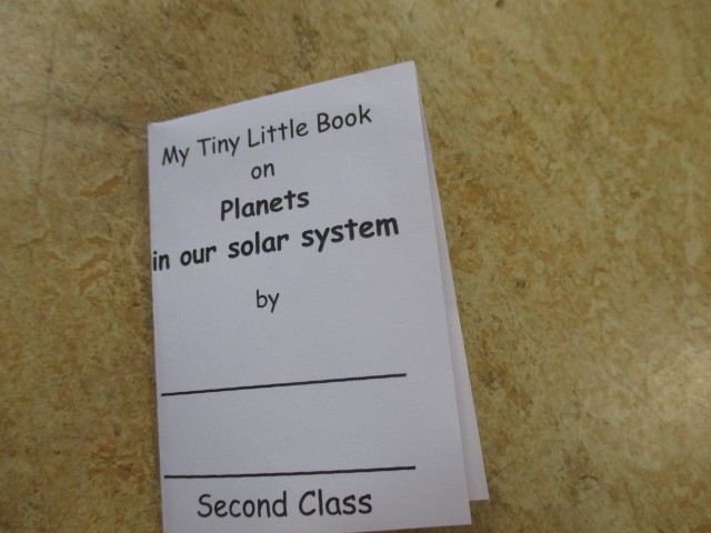 Mini book on Planets