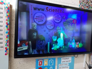 Looking at germs under UV light