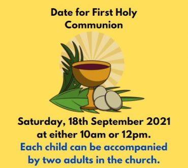 Date for First Holy Communion