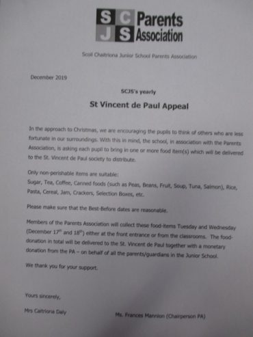 St. Vincent de Paul Appeal