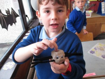 Making Clay Spiders